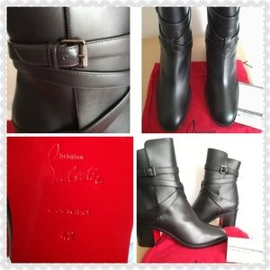 7534899adc74 Christian Louboutin Shoes - CHRISTIAN LOUBOUTIN Karistrap Leather Ankle  Boots